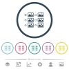 Single image selection with radio buttons flat color icons in round outlines - Single image selection with radio buttons flat color icons in round outlines. 6 bonus icons included.