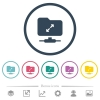 FTP uncompress flat color icons in round outlines - FTP uncompress flat color icons in round outlines. 6 bonus icons included.
