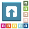 Upload white icons on edged square buttons in various trendy colors - Upload white icons on edged square buttons