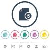 Turkish Lira financial report flat color icons in round outlines - Turkish Lira financial report flat color icons in round outlines. 6 bonus icons included.