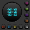 Single image selection with radio buttons dark push buttons with color icons - Single image selection with radio buttons dark push buttons with vivid color icons on dark grey background