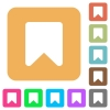 Bookmark rounded square flat icons - Bookmark flat icons on rounded square vivid color backgrounds.