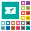 Bakery discount coupon square flat multi colored icons - Bakery discount coupon multi colored flat icons on plain square backgrounds. Included white and darker icon variations for hover or active effects.