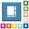 Blank document with scroll bars white icons on edged square buttons - Blank document with scroll bars white icons on edged square buttons in various trendy colors