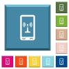 Mobile hotspot white icons on edged square buttons - Mobile hotspot white icons on edged square buttons in various trendy colors