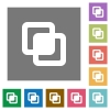 Intersect shapes square flat icons - Intersect shapes flat icons on simple color square backgrounds