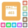 Browser 403 forbidden rounded square flat icons - Browser 403 forbidden flat icons on rounded square vivid color backgrounds.