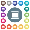 Laptop touchpad flat white icons on round color backgrounds - Laptop touchpad flat white icons on round color backgrounds. 17 background color variations are included.