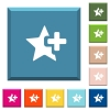 Add star white icons on edged square buttons - Add star white icons on edged square buttons in various trendy colors