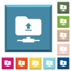 Upload to ftp white icons on edged square buttons - Upload to ftp white icons on edged square buttons in various trendy colors