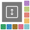 Adjust object height square flat icons - Adjust object height flat icons on simple color square backgrounds