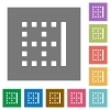 Right border square flat icons - Right border flat icons on simple color square backgrounds