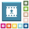 Upload movie white icons on edged square buttons - Upload movie white icons on edged square buttons in various trendy colors