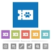 pet shop discount coupon flat white icons in square backgrounds - pet shop discount coupon flat white icons in square backgrounds. 6 bonus icons included.