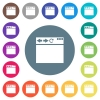 Empty browser window flat white icons on round color backgrounds - Empty browser window flat white icons on round color backgrounds. 17 background color variations are included.