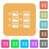 Multiple image selection with checkboxes rounded square flat icons - Multiple image selection with checkboxes flat icons on rounded square vivid color backgrounds.