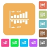 Network statistics rounded square flat icons - Network statistics flat icons on rounded square vivid color backgrounds.