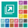 Open in new window square flat multi colored icons - Open in new window multi colored flat icons on plain square backgrounds. Included white and darker icon variations for hover or active effects.