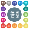 Single image selection with radio buttons flat white icons on round color backgrounds - Single image selection with radio buttons flat white icons on round color backgrounds. 17 background color variations are included.
