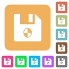 Protect file rounded square flat icons - Protect file flat icons on rounded square vivid color backgrounds.