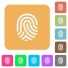 Fingerprint rounded square flat icons - Fingerprint flat icons on rounded square vivid color backgrounds.