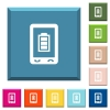 Mobile battery status white icons on edged square buttons - Mobile battery status white icons on edged square buttons in various trendy colors