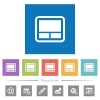 Laptop touchpad flat white icons in square backgrounds - Laptop touchpad flat white icons in square backgrounds. 6 bonus icons included.