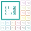 Debugging program flat color icons with quadrant frames - Debugging program flat color icons with quadrant frames on white background