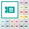 Hi-fi shop discount coupon flat color icons with quadrant frames - Hi-fi shop discount coupon flat color icons with quadrant frames on white background