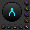 Merge arrows up dark push buttons with color icons - Merge arrows up dark push buttons with vivid color icons on dark grey background