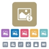 Vertically flip image flat icons on color rounded square backgrounds - Vertically flip image white flat icons on color rounded square backgrounds. 6 bonus icons included