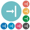 Align to right flat round icons - Align to right flat white icons on round color backgrounds