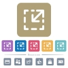 Resize element flat icons on color rounded square backgrounds - Resize element white flat icons on color rounded square backgrounds. 6 bonus icons included