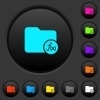 Directory functions dark push buttons with color icons - Directory functions dark push buttons with vivid color icons on dark grey background