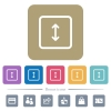 Adjust object height flat icons on color rounded square backgrounds - Adjust object height white flat icons on color rounded square backgrounds. 6 bonus icons included