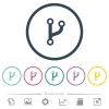 Code fork flat color icons in round outlines - Code fork flat color icons in round outlines. 6 bonus icons included.