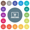 Webshop flat white icons on round color backgrounds - Webshop flat white icons on round color backgrounds. 17 background color variations are included.