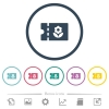 Flower shop discount coupon flat color icons in round outlines. 6 bonus icons included. - Flower shop discount coupon flat color icons in round outlines
