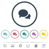 Discussion flat color icons in round outlines - Discussion flat color icons in round outlines. 6 bonus icons included.