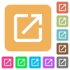 Launch application rounded square flat icons - Launch application flat icons on rounded square vivid color backgrounds.