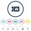 Toll discount coupon flat color icons in round outlines. 6 bonus icons included. - Toll discount coupon flat color icons in round outlines
