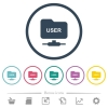 ftp authentication username flat color icons in round outlines - ftp authentication username flat color icons in round outlines. 6 bonus icons included.