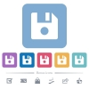 File record flat icons on color rounded square backgrounds - File record white flat icons on color rounded square backgrounds. 6 bonus icons included