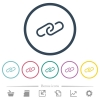 Paperclip flat color icons in round outlines - Paperclip flat color icons in round outlines. 6 bonus icons included.