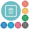 Delete object flat round icons - Delete object flat white icons on round color backgrounds