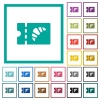 Bakery discount coupon flat color icons with quadrant frames - Bakery discount coupon flat color icons with quadrant frames on white background