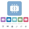 Hardware programming flat icons on color rounded square backgrounds - Hardware programming white flat icons on color rounded square backgrounds. 6 bonus icons included