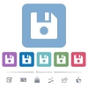 Certificate file flat icons on color rounded square backgrounds - Certificate file white flat icons on color rounded square backgrounds. 6 bonus icons included