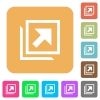 Open in new window rounded square flat icons - Open in new window flat icons on rounded square vivid color backgrounds.