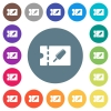 Ice lolly discount coupon flat white icons on round color backgrounds - Ice lolly discount coupon flat white icons on round color backgrounds. 17 background color variations are included.